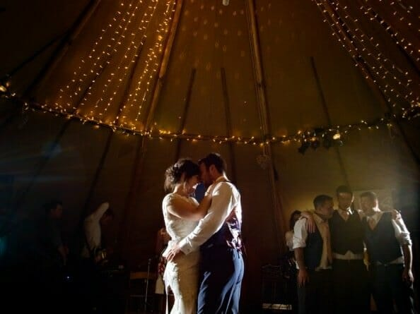 First dance in a tipi in Dorset