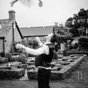 high flying child at Parley Manor wedding