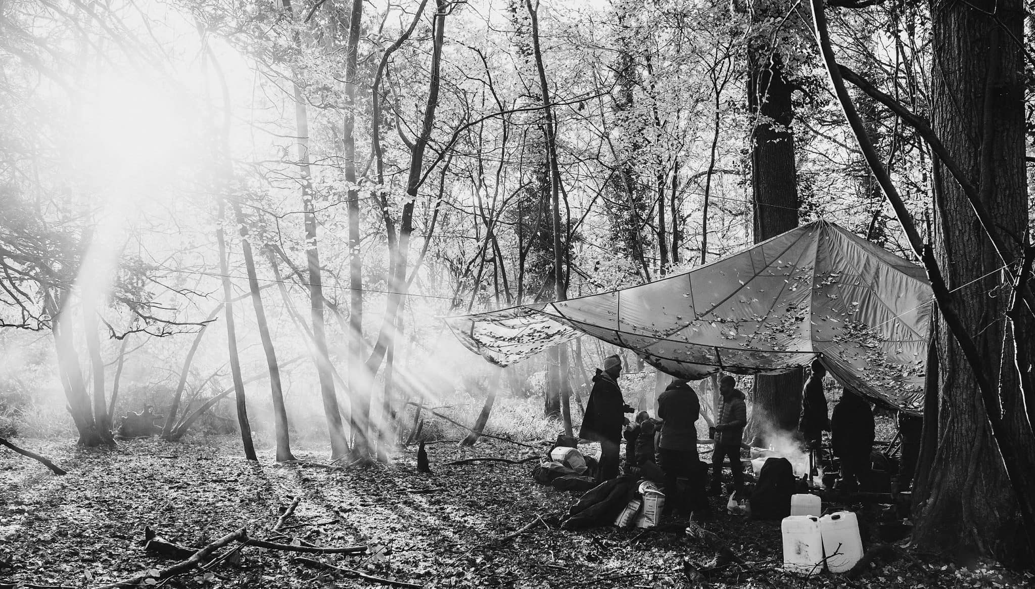Being taught Bushcraft in Hampshire