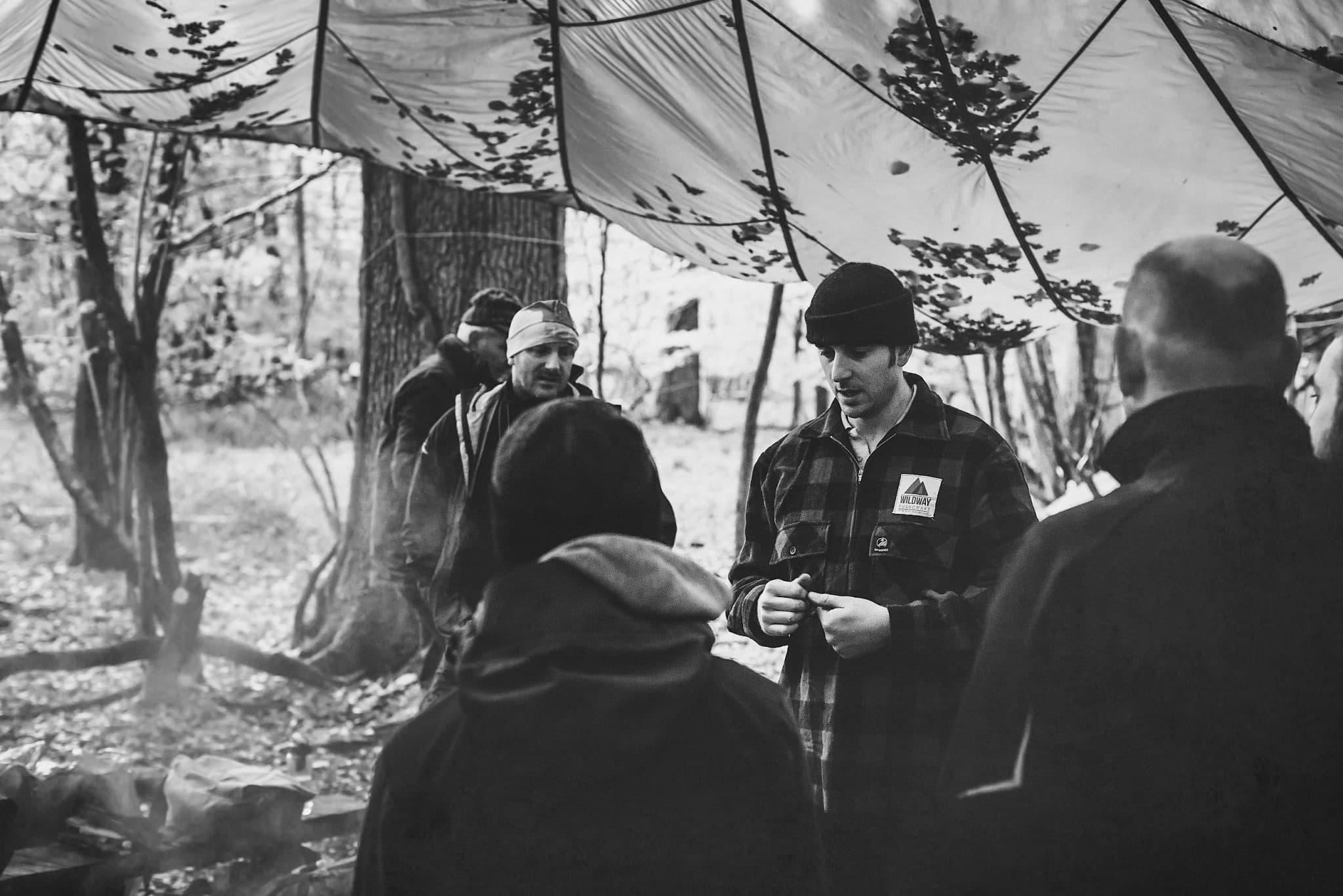 John teaching his survival Students