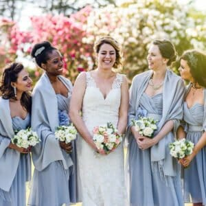 Bridesmaids by Studland bay house wedding photographer