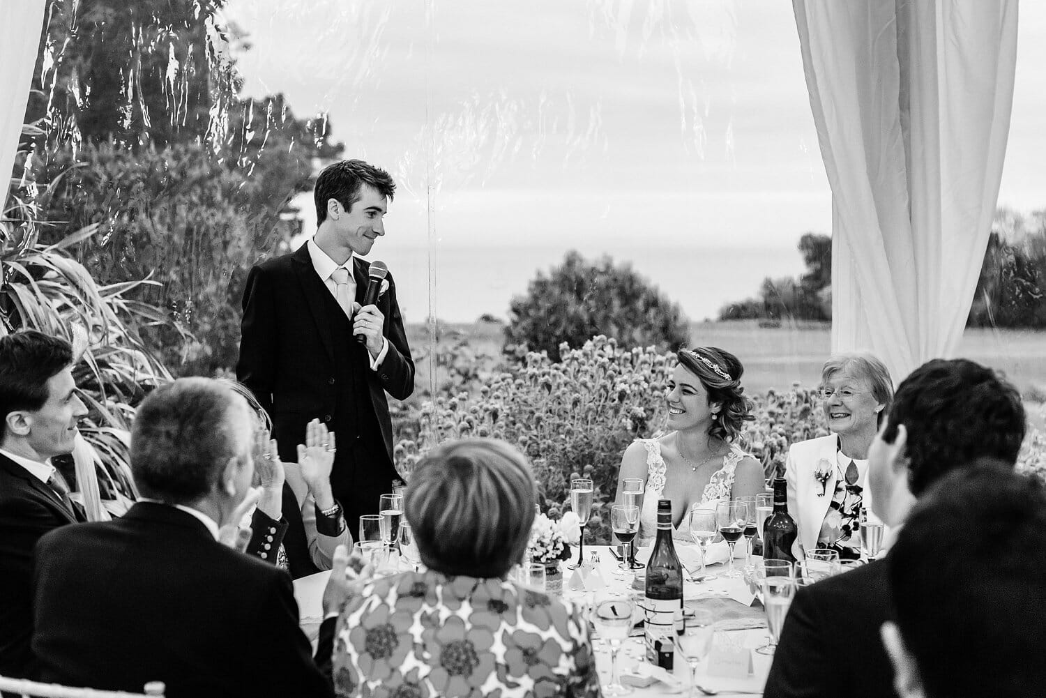 Grooms speech at Studland Bay House