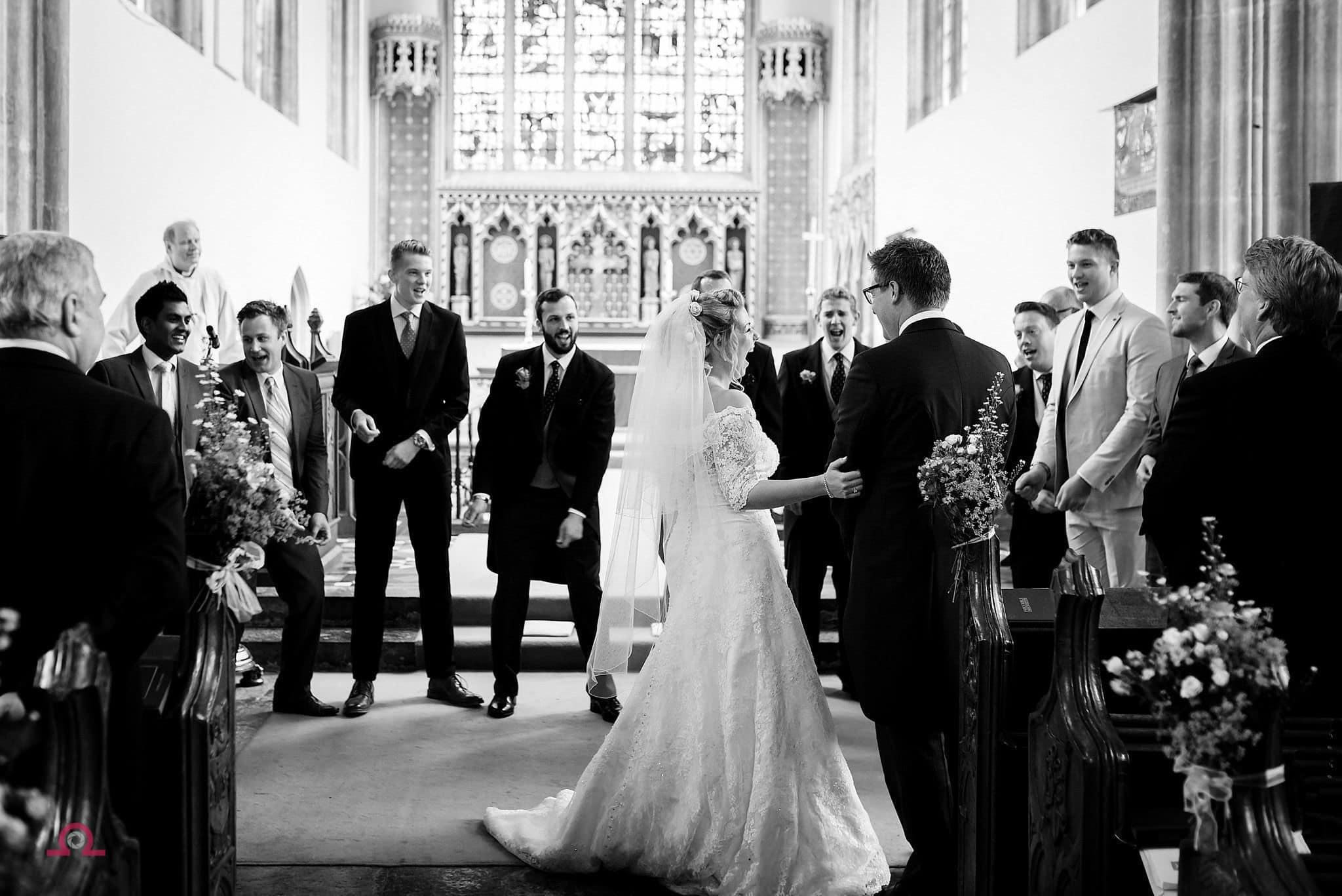 A brides reaction to a wedding flash mob
