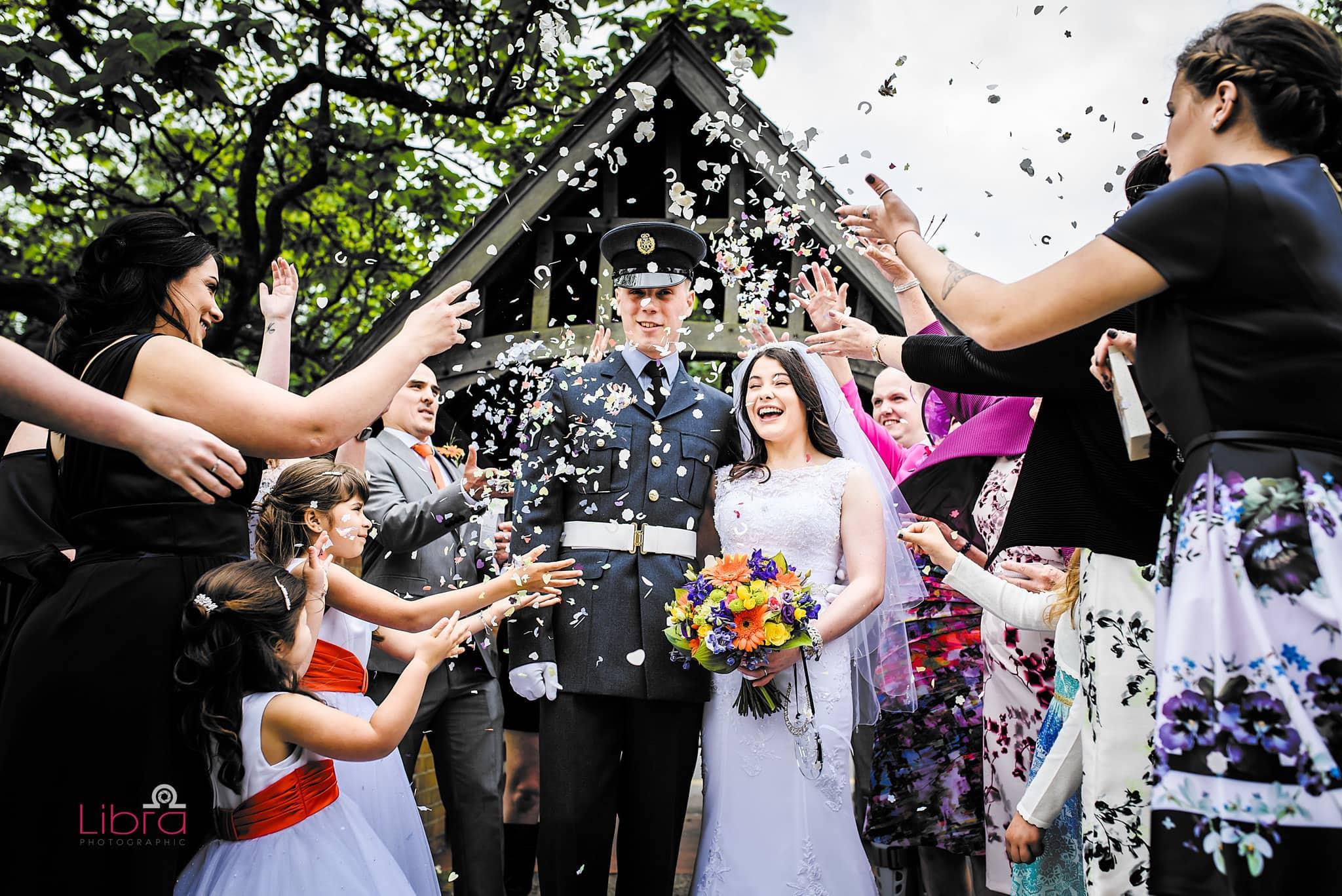 Confetti at St Michaels in Hamworthy