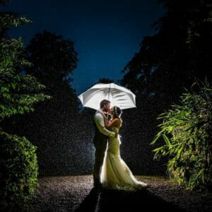 Rain on your Larmertree weddingday