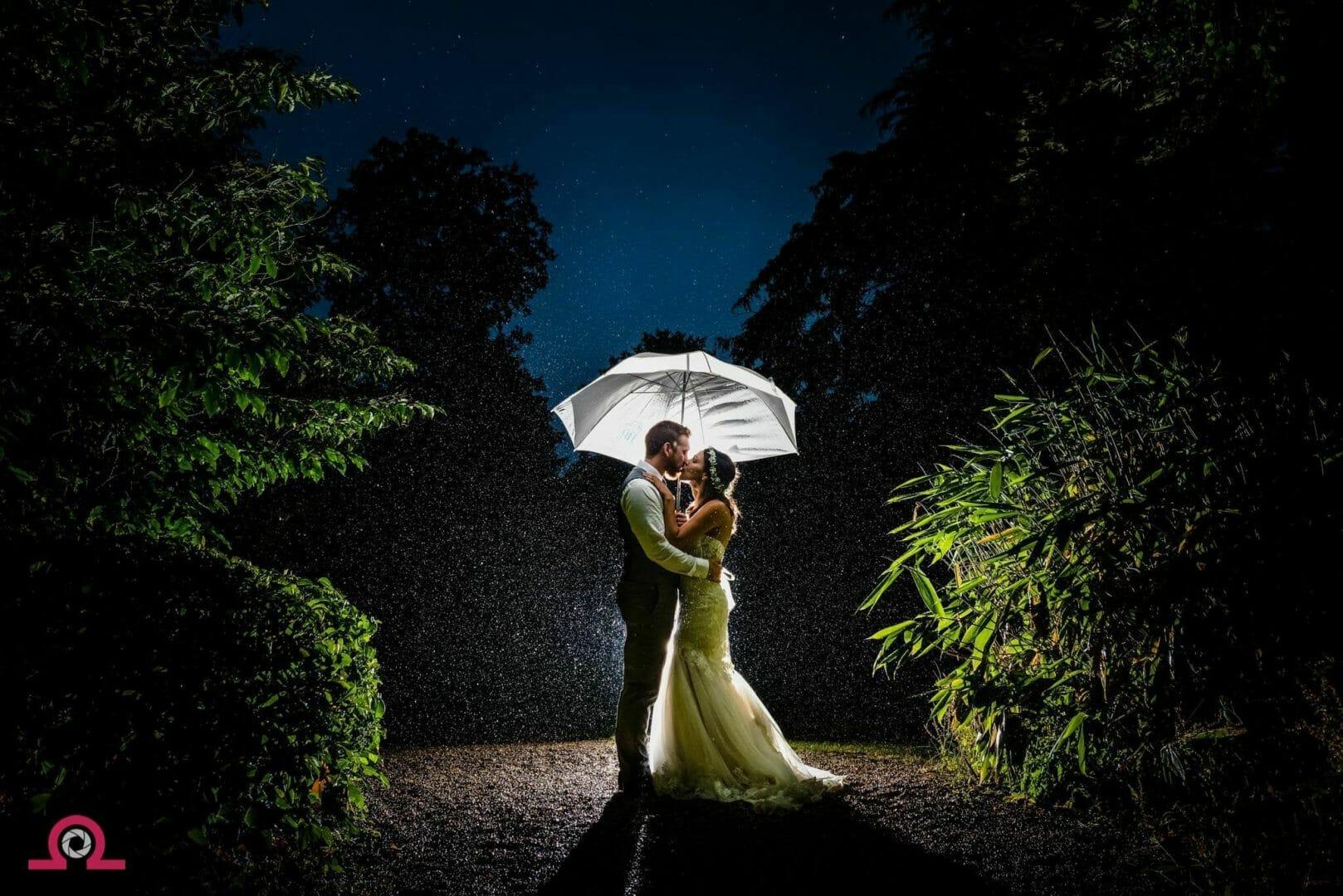 Rainy-wedding-Larmertree-gardens