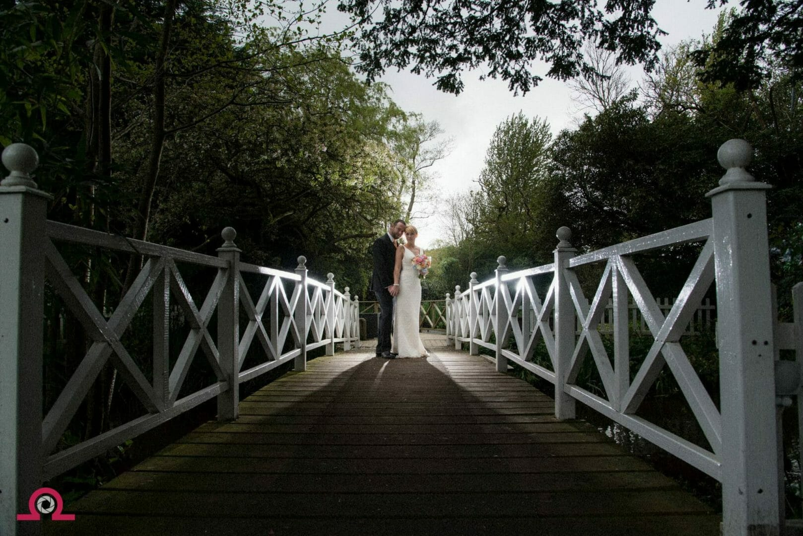 The bridge at a Gordleton Mill wedding