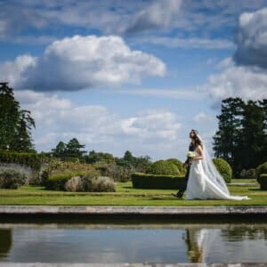 Outdoor wedding ceremony-Rhinefield House