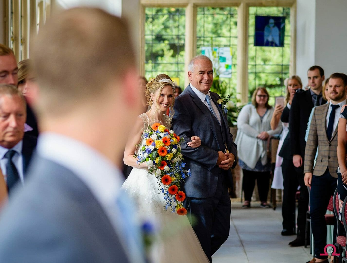 The moment a Bride enters Highcliffe Castle