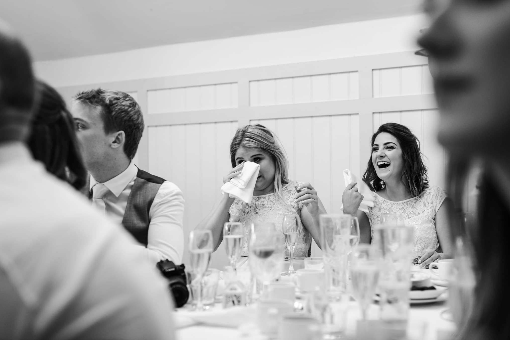 Tears at the speaches - Kings arms Hotel Wedding