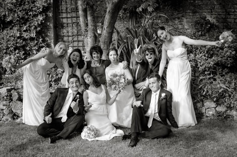Having fun with wedding groups