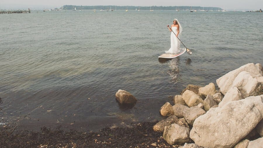 Trash the dress photo in poole harbour