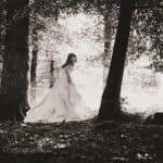 Bride like Alice in Wonderland