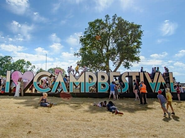 Camp Bestival wedding