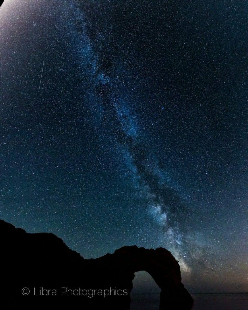 Dorset Durdle Door with the Milky Way overhead
