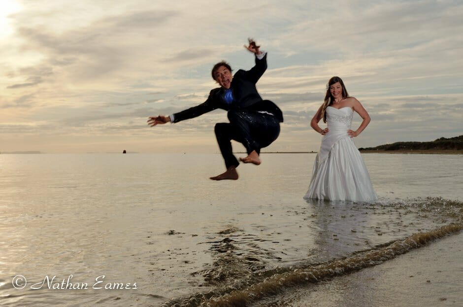 Trash the Wedding dress photo