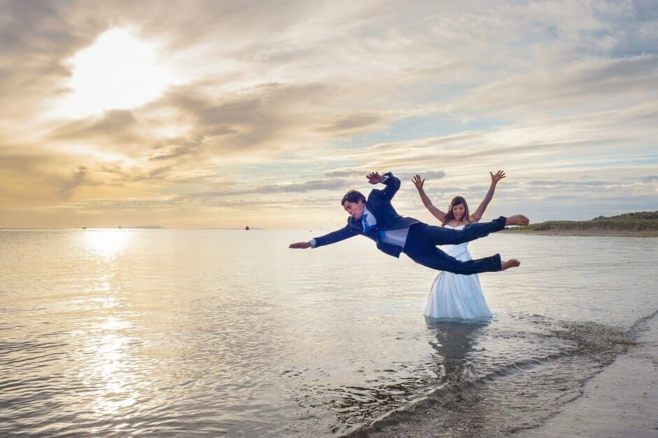 trash the dress at Sandbanks