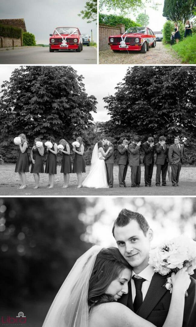 Fun B&W wedding Group shots