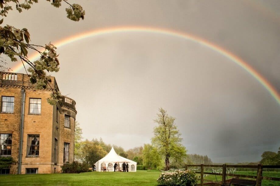Hamphire Wedding Photographer - Rainbow over Hill Place