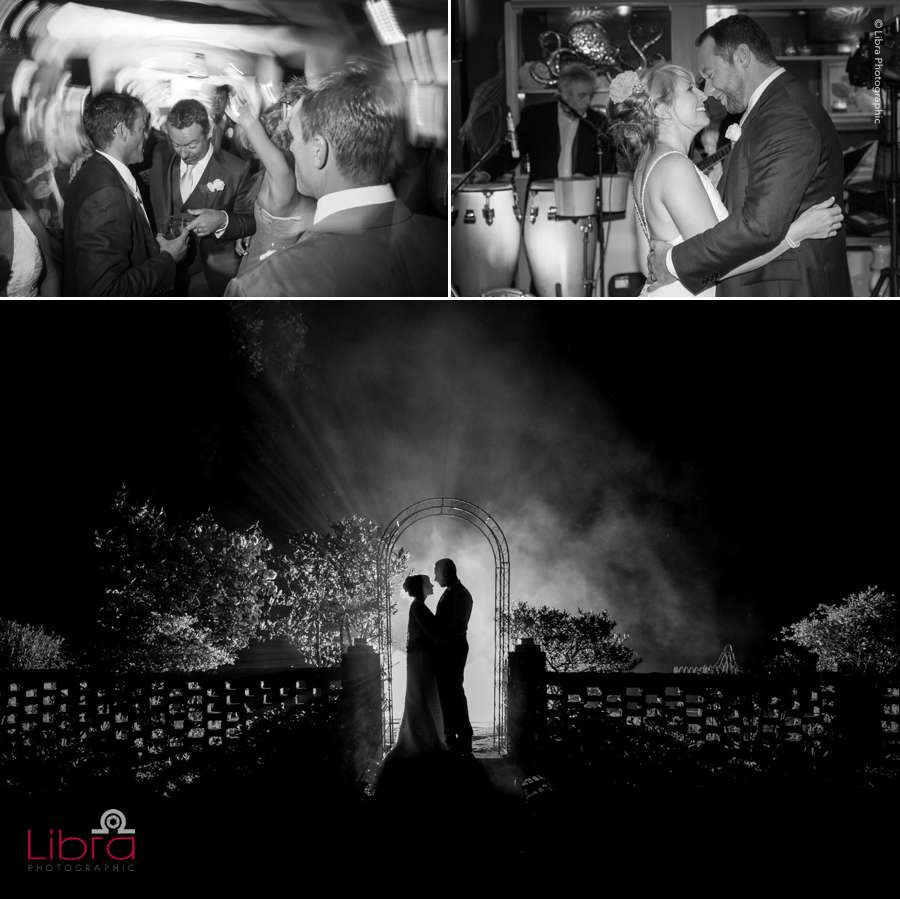 black and white wedding in Hamphsire