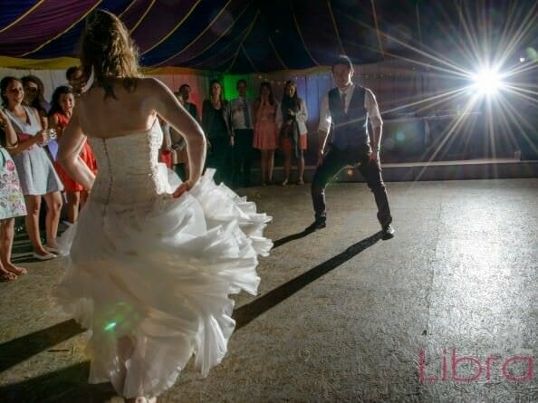 First dance at the partyfield